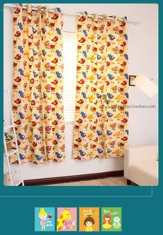 Бесплатная доставка мультфильм птица 100% хлопок холст ребенок животных настроить занавес шторы дома, принадлежащий категории Шторы и относящийся к Для дома и сада на сайте AliExpress.com | Alibaba Group