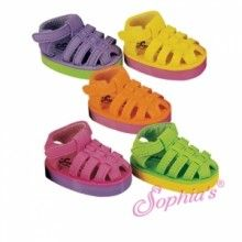 This site has adorable soes-Foam Doll Sandal With Contrast Color Sole Fits 18 Inch American Girl Doll Shoes