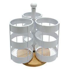 Parties- Steel 3-Sectioned Utensil Storage Caddy - White- target