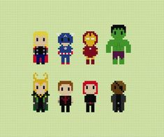 Avengers Cross Stitch Pattern by GeekyStitches on Etsy