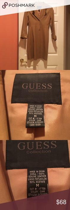 Leather coat Leather coat Guess Jackets & Coats Trench Coats