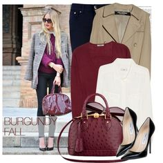 """""""BURGUNDY FALL"""" by majksister on Polyvore"""