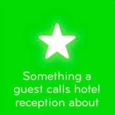Answers 94 Something a guest calls hotel reception about
