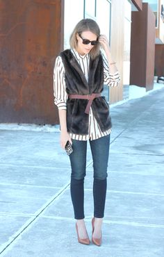 In a style rut? Add a great belt to help define or emphasize your waist. It's always better to show your shape than hide it! Via Penny Pincher Fashion. Learn how to dress your body shape and move beyond boring basics while helping women in need at Styletruist.com!