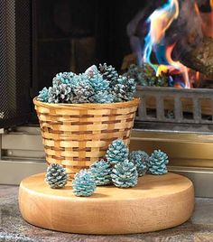 Perfect for use in your fireplace or outdoor firepit, Rainbow Flame-Coloring Pine Cones provides you with hours of fun. Add the pine cones to your fire and watch them turn the flames blue and green for a riot of color. You get a 1-lb. bag. Pine cones, ap