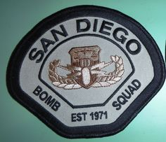 California Fire Patch - San Diego FD Bomb Squad Tan Patch