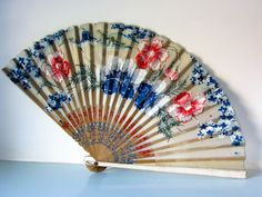 Vintage fan, hand fan, 1950's style, paper fan, wall decor, theater prop, gift for her, rockabilly style, 1960's fan by thevintagemagpie01 on Etsy Rockabilly Style, Rockabilly Fashion, Theatre Props, Theater, Vintage Fans, Paper Fans, Magpie, Cottage Chic, Bridal Accessories