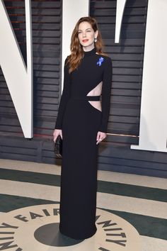 Michelle Monaghan in Brandon Maxwell attends the 2017 Vanity Fair Oscar Party hosted by Graydon Carter.
