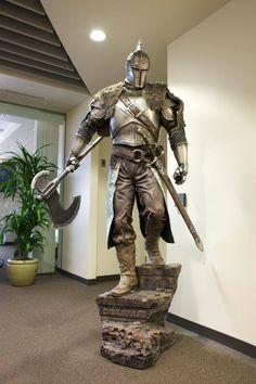 Dark Souls II knight. Barbute and fur shoulders reminiscent of chaos marauder