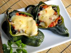 stuffed poblano peppers - Budget Bytes