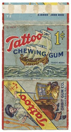 Awesome vintage packaging for chewing gum.