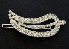 Svatební bižuterie štrasová spona list 5755-3 | Bižuterie Kozák