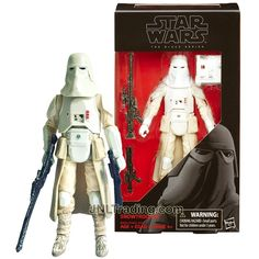 Year 2016 Star Wars The Black Series 6 Inch Tall Figure #35 - SNOWTROOPER with Blaster and Rifle