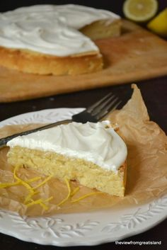Flourless Whole Meyer Lemon Cake - uses almond meal
