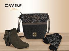 Bolso, botines y guantes de lana de FOR TIME