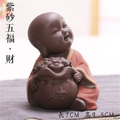 Great Wealth : lovely-tea-pet-house-decoration-blessing-statue-monk-tea-play-furnishing-article