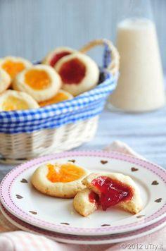 Lemon Scented Thumbprint Cookies