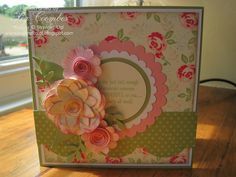 Beautiful homemade card, love the attributes, colors, style... definitely have to keep this for inspiration.