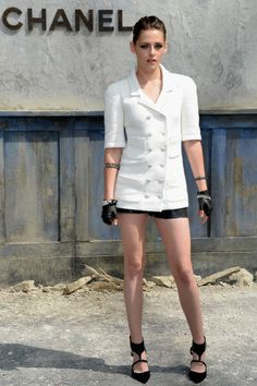 37b0747092b5 Kristen Stewart outside the  Chanel Haute Couture show. Styled by Tara  Swennen. Alexa