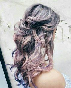 Hair Color Asian, Asian Hair, Ombre Hair Color, Purple Hair, Purple Ombre, Gold Hair, Green Hair, Metallic Hair Color, Gray Ombre