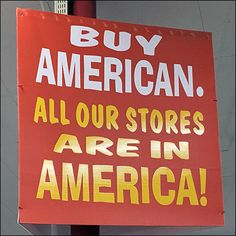 This Ollie's Buy American In America Pitch is a self-fulfilling prophecy in that all of the chain's stores are stateside, with none overseas. Self Fulfilling Prophecy, Pitch, Close Up, Entrance, Retail, Branding, American, Store, Stuff To Buy