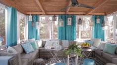 HGTV Spring House's Inviting Front Porch — Get your porch ready for a long wee. - HGTV Spring House's Inviting Front Porch — Get your porch ready for a long weekend. Outdoor Rooms, Outdoor Living, Outdoor Furniture Sets, Garden Furniture, Furniture Design, Pastel Decor, Cottage Living Rooms, Florida Home, Florida Room Decor
