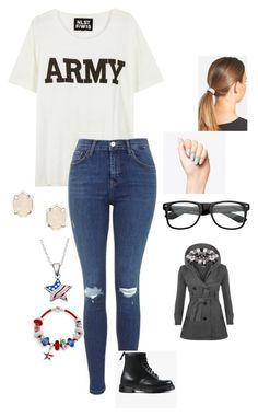 """""""Happy Veteran's Day"""" by cheercraz ❤ liked on Polyvore featuring NLST, Dr. Martens, L. Erickson, Kendra Scott, Bling Jewelry, WearAll, women's clothing, women, female and woman"""