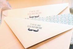 Bella Figura custom letterpressed envelope flap
