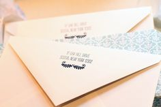 Bella Figura custom letterpressed envelope flap