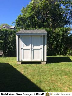 Completed backyard lean to shed design. Shed House Plans, Lean To Shed Plans, Wood Shed Plans, Diy Shed Plans, Framing Construction, Shed Construction, Backyard Storage Sheds, Diy Storage Shed, Shed Floor