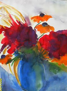 Stillleben  -  .Emil Nolde  Expressionism  Watercolour, Gouache