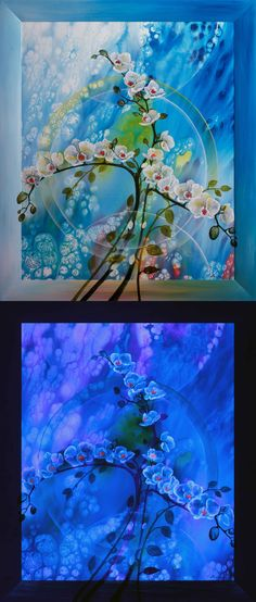Luminescent painting THE NOBLE ● 2012, canvas   acrylic, daylight and UV light • Painting Ideas   Home Decor   Art   Art Ideas   Contemporary Art   Abstract Art   Fine Art • Available on Etsy •