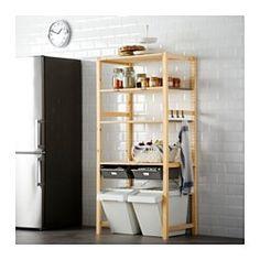 IKEA - IVAR, 1 sección/bald/cajn, De madera maciza sin tratar, un material natural muy duradero y resistente que puedes cuidar aplicando aceite o cera.Puedes mover las baldas para adaptar el espacio a tus necesidades.Puedes personalizar aún más el mueble pintándolo o tiñéndolo de tu color favorito.