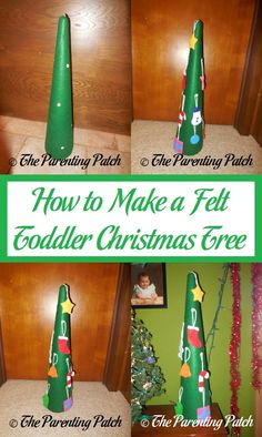 Learn how to make a Christmas tree for a toddler or preschooler using felt. Christmas Crafts For Kids To Make, Christmas Activities For Kids, Toddler Christmas, Holiday Crafts, Christmas Tree, Christmas Morning, Christmas Ideas, Christmas Traditions, So Little Time