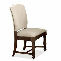 Upholstered Dining Side Chair, Riverside, Castlewood Collection | Home Gallery Stores