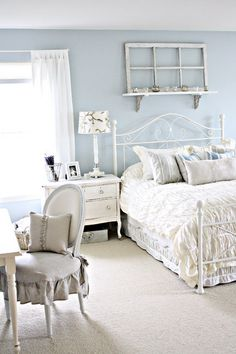 Shabby Chic Bedroom Design, I love the brightness and simplicity