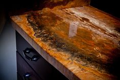 DIY Countertop, bar top, and flooring epoxy. So cool and way less expensive than granite.