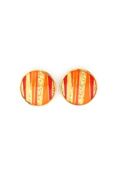 Chloe Button Earrings in Sun Ray