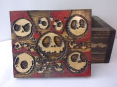 nightmare before christmas keepsake stash wood box