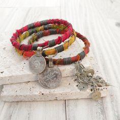 Silk Road Gypsy Bangle Stack 3 Bohemian Tribal by GypsyIntent, $38.00