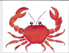 claire Jordan designs one of a kind animal art greeting cards & prints Pretty Backgrounds, Wallpaper Backgrounds, Iphone Wallpaper, Wallpapers, Crab Illustration, Tumblr Wallpaper, Red Background, Nursery Prints, Illustrations