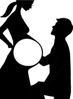 Фоторамка/открытка для беременных