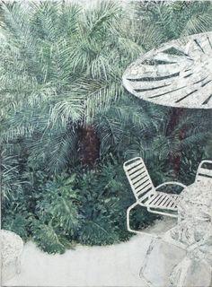 "Saatchi Art Artist Renata Fernandez; Painting, ""Deck Chairs Series No 2"" #art"