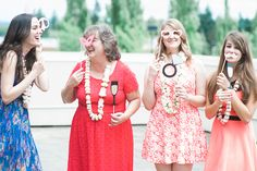 Photo booth props | Christa Taylor Photography | see more on: http://burnettsboards.com/2015/09/hawaiian-bridal-shower-luau-styling-tips/