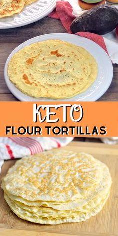Keto Flour Tortillas- Now you can indulge in your favorite Mexican food dishes with this Keto Flour Tortilla recipe. Tacos, fajitas, enchiladas, and more are waiting for you! Keto Flour Tortillas Bobbi's Kozy Kitchen bobbiskozykitchen Bobbi's Kozy Kitchen Almond Recipes, Low Carb Recipes, Diet Recipes, Healthy Recipes, Bread Recipes, Tortilla Recipes, Pureed Food Recipes, Oats Recipes, Keto Banana Bread