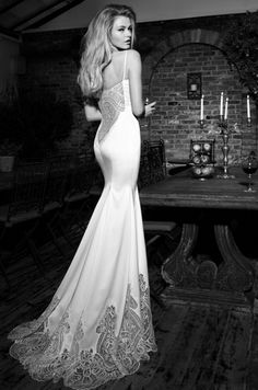 """Confetti Daydreams - From the new Galia Lahav 2013 Haute Couture Collection, stop and stare at this """"Marilyn"""" silk satin mermaid-style wedding gown"""