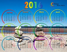 Calendrier 2016 format horizontal aimanté Marie, Calendar For 2016, Positive Thoughts, Posters