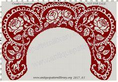 (1) Gallery.ru / Фото #209 - Le Filet Ancien au Point de Reprise VII - gabbach Crochet Butterfly, Crochet Basket Pattern, Crochet Collar, Indian Patterns, Pretty Designs, Red Pattern, Filet Crochet, Knitting Designs, Bargello