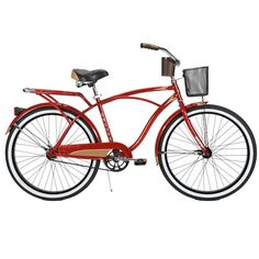 Cruiser Bicycle in racy red