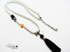 Long pearl necklaceBoho pearl necklaceLong di Laboratorio7Bijoux